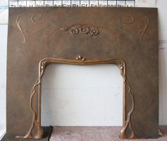 Bronze fireplace facade by MarkNewman
