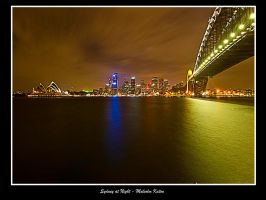 Sydney at Night by FireflyPhotosAust