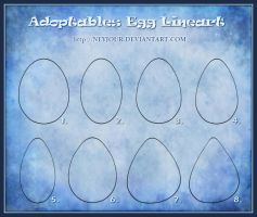 Adoptables Egg Lineart by Neyjour