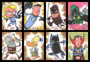 BRONZE AGE sketchcards 009-016 by thecheckeredman