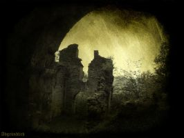 Abbey in ruins III by Abgrundlich