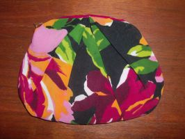 Floral Pleated Makeup Clutch by ItsMeNaturall