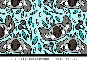 Custom Box Pattern- Koalas by Plumbeck