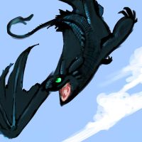 Toothless Speedpaint by selonian