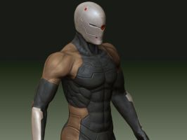 CYBORG NINJA GRAY FOX wip_2 by YASUJPN