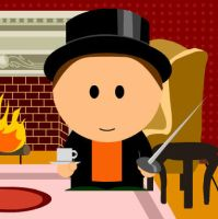 Professor Layton in South Park by kenabe