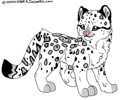 --CLOSED--Points adoption Snow leopard by AixaRawr