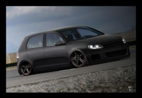 VW Golf-Matte Black by chopperkid44
