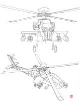 AH-64 attack helicoptor by randychen