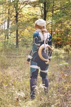 Sheik with Goddess's Harp by TerminaCosplay