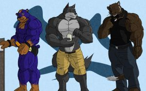 - Buff Trio - by notveryathletic