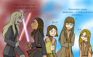 The TC Jedi Council by Duelistabbeyryou