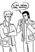 Dean and Loki by musicalirony