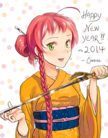 Yusa Emi wishes you a Happy New Year! by candide1337