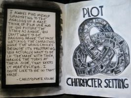 Sketchbook Project 2012 - pages 8-9 by Gothscifigirl