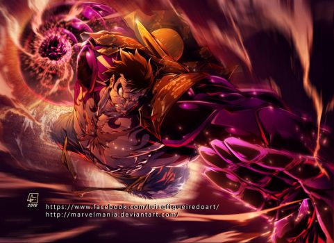 Luffy Gear4 color by marvelmania