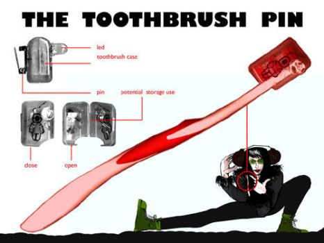TOOTHBRUSH PIN_DESIGN CONTEST by marianfox