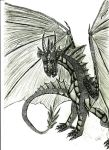 Black dragon uncoloured by helenacomz