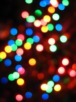 Rainbow Bokeh by Jenna-Rose