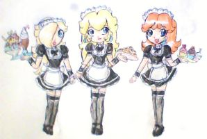 princess maids by ninpeachlover