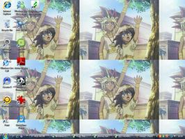 my atem and mana desktop by WeFallLikeAngels19