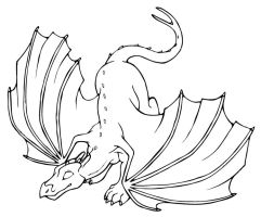 Lineart - Dragon 4 by arazia