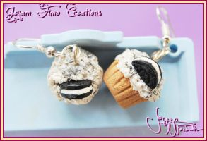 Oreo Cupcakes - Earrings by Jeyam-PClay