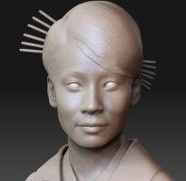 lucy liu untextured by Dozogovi