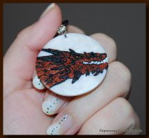 Smaug 3D Pendant by FrostedfireKate