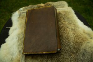 Hand made Adjustable Leather Book Cover 2 by yamori-san
