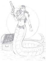 Pirate Naga FOR SALE by MichaelPowellArt