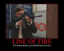 Line Of Fire Demotivational Poster by QuantumInnovator