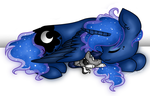 Luna and Kaos by Cheschire-Kaat
