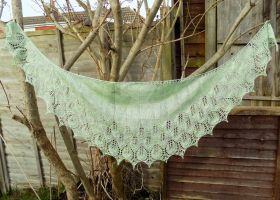 Leaves in Silver Green by FearlessFibreArts