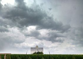 White Barn Clouds by QuizzicalFaerie