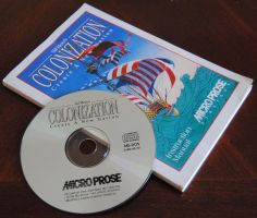 Sid Meiers Colonization CD and Instruction Manual by agentpalmer