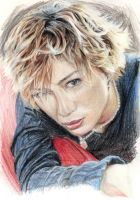 Gackt.pencil.colour.fluffy XD by Bitterkawaii