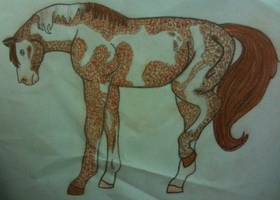 Stippled Pastels Horse by zarhx