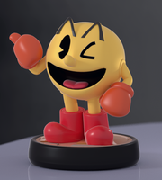 Pac-Man Amiibo! by SmashingRenders