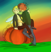 Playing in the pumpkin patch -revamp- by TheLittlehoneybee