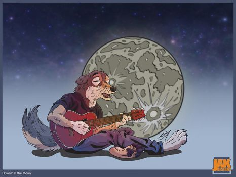 Howlin' at the Moon by jaxeller