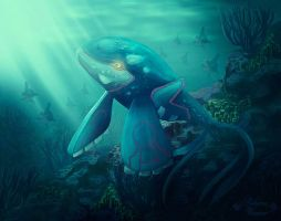 Kyogre by RebeccaWeaver