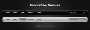 Black and Silver Navigation by easydisplayname