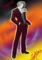 Miles Edgeworth saved me... by fire-doused