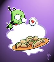 Gir loves Tacos by SHADY-HEDGEHOG324