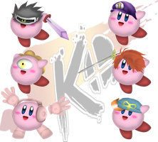 ssbkO-Kirby hats4 by Teen-Robot