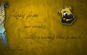 Hufflepuffs Forever by RiaVeg