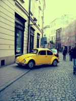 yellow car. by mylullaby123