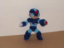 Megaman X by fuzzyfigureguy
