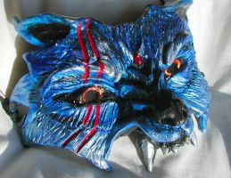 Blue Wolf Mask by Namingway